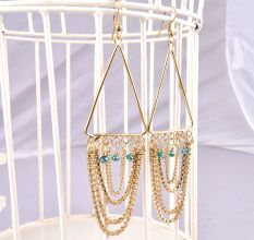Golden Chain Chandelier Dangler Earring