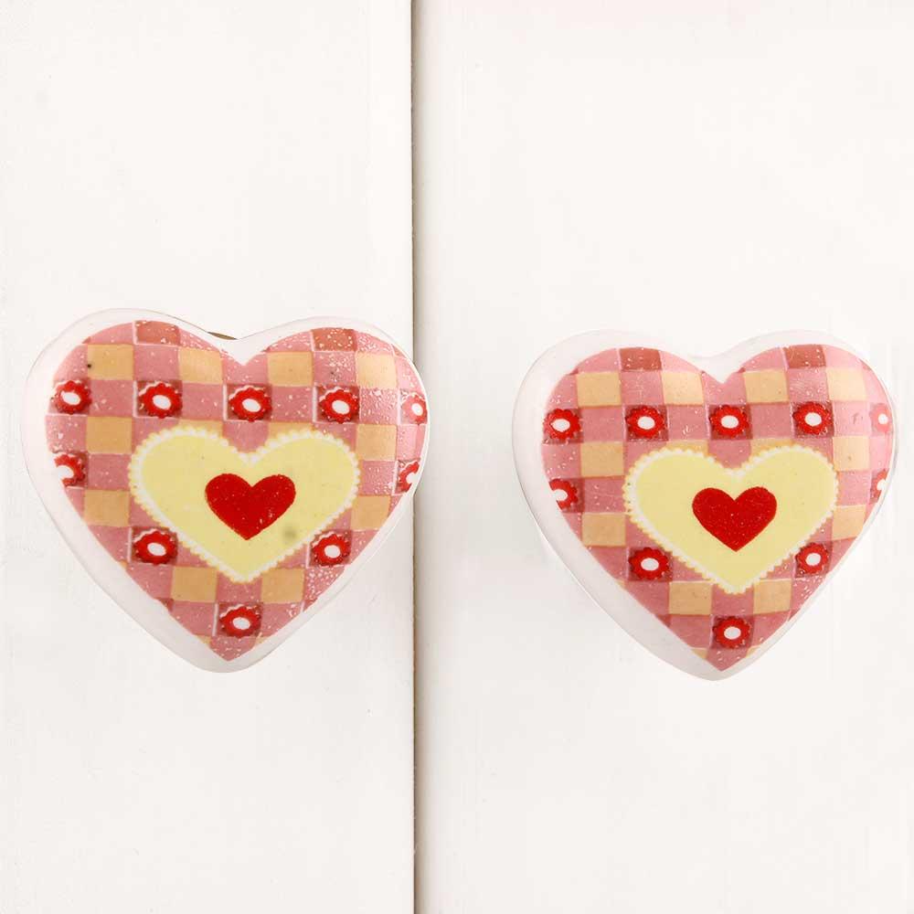 Heart Ceramic Knob