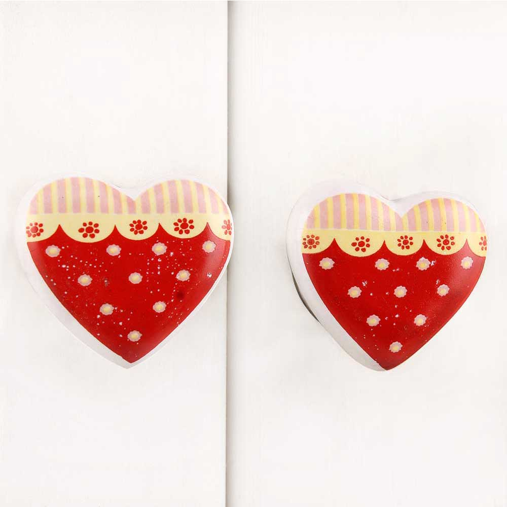 Red Heart Ceramic Knob