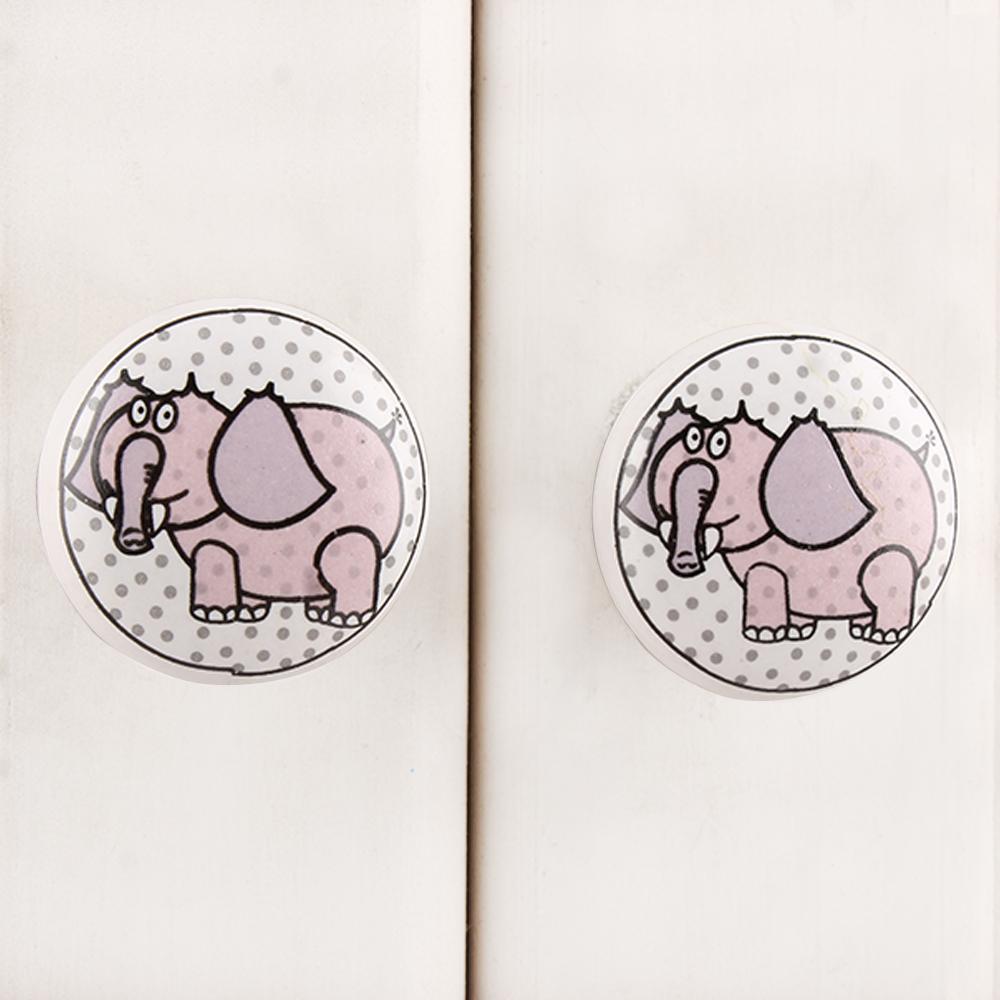 Elephant Ceramic Knob