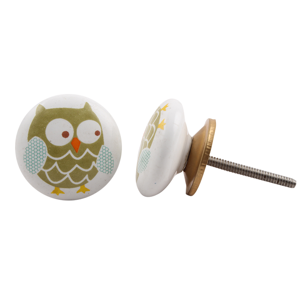 Owl Ceramic Knob