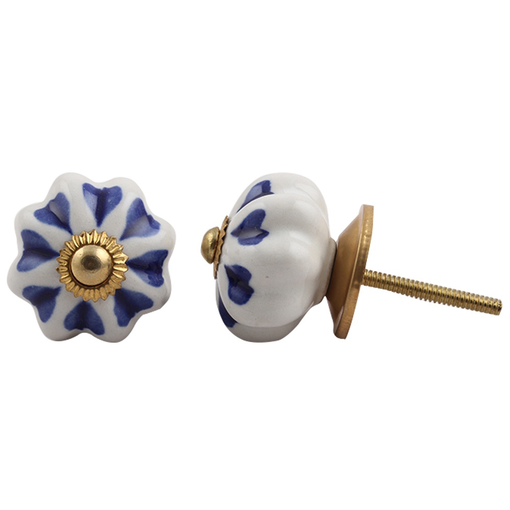 Blue Heart Medium Knob