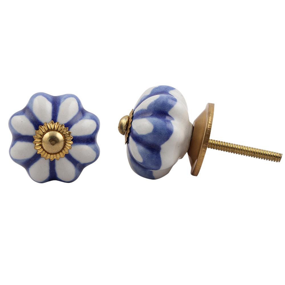 Blue Wheel Medium Knob