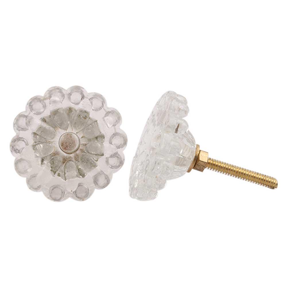 Clear Flower Knob