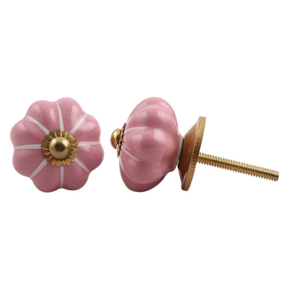 Pink White Medium Knob