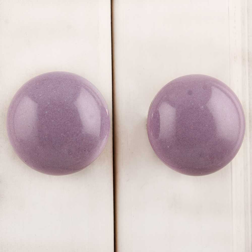 Light Purple Flat Knob
