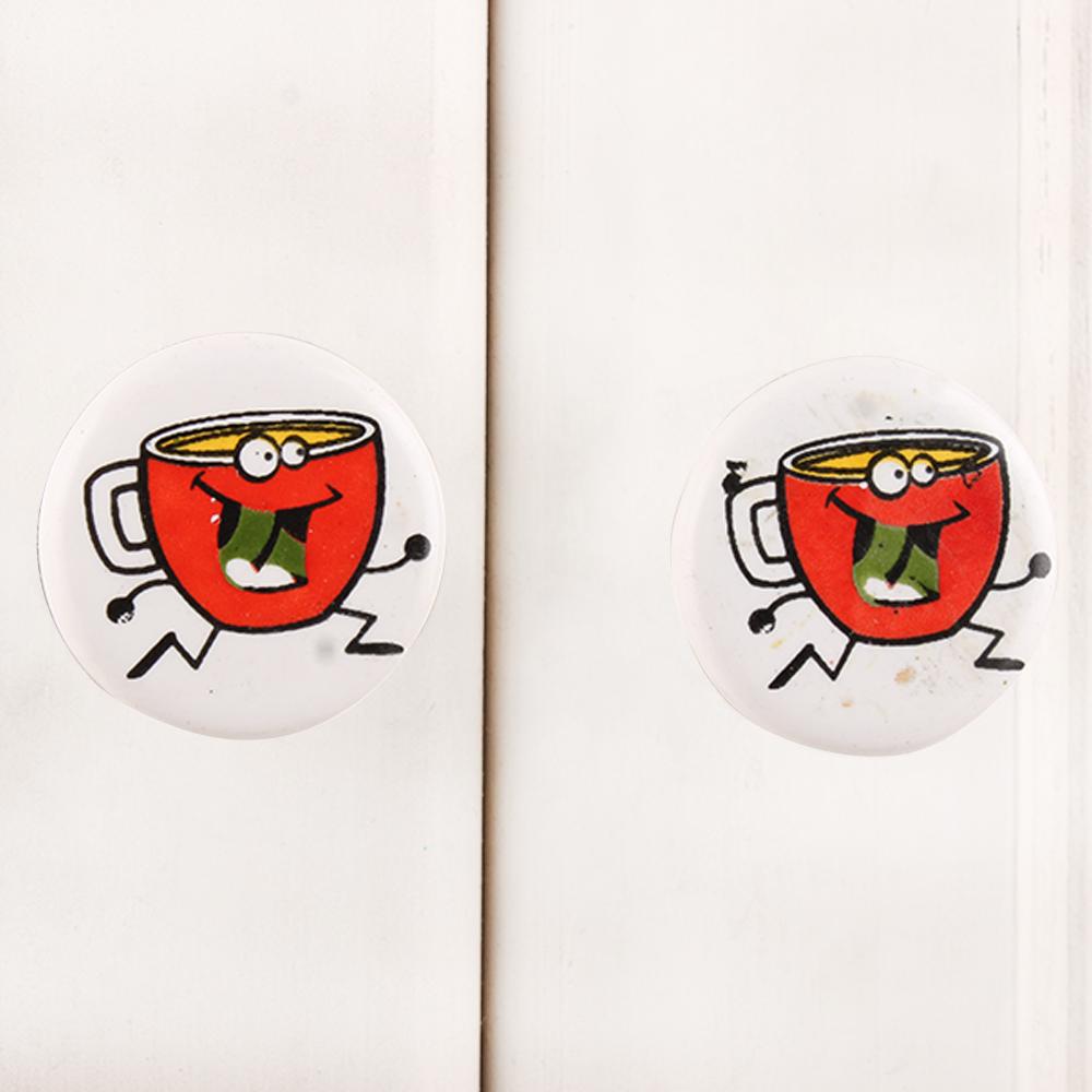 Tea Cup Flat Knob