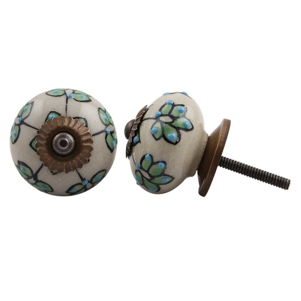 Rosy Periwinkle Floral Dresser Knob