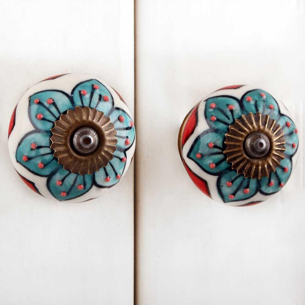 Mixed Flower Dresser Knob