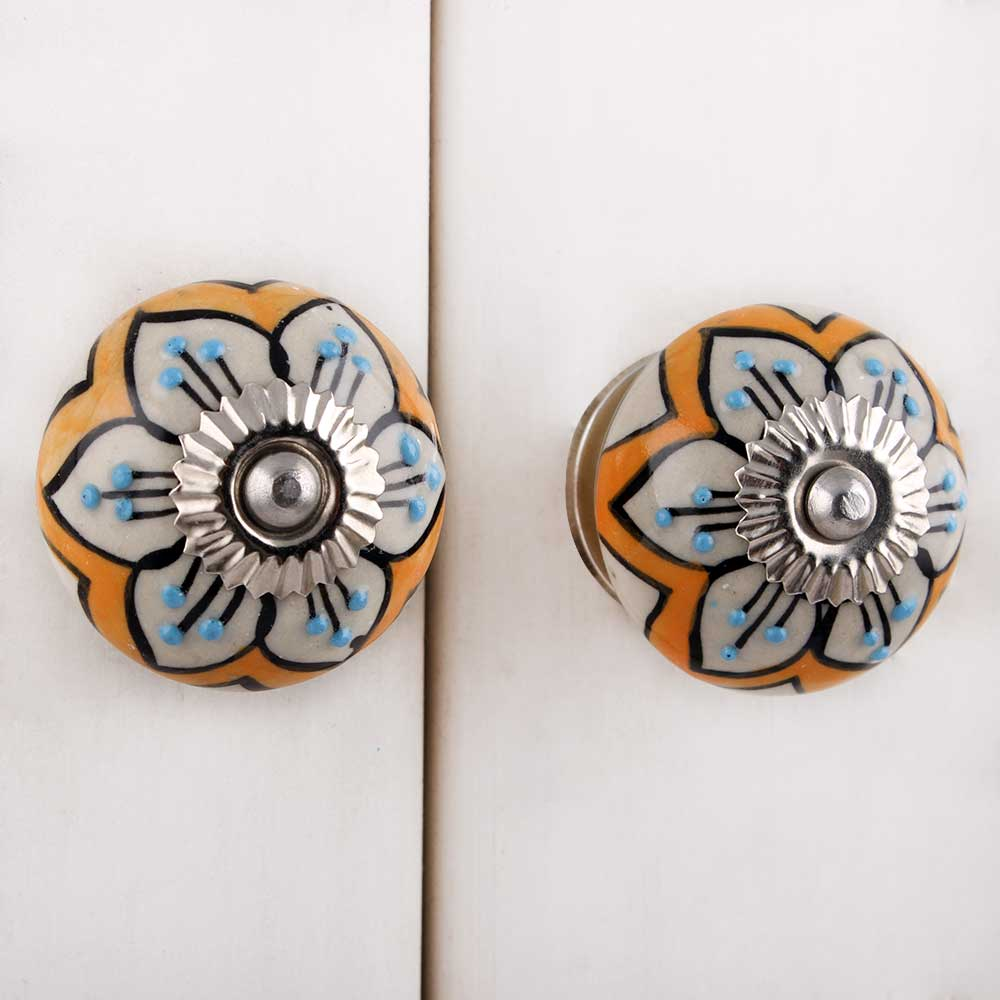 Mustard Flower Dresser Knob