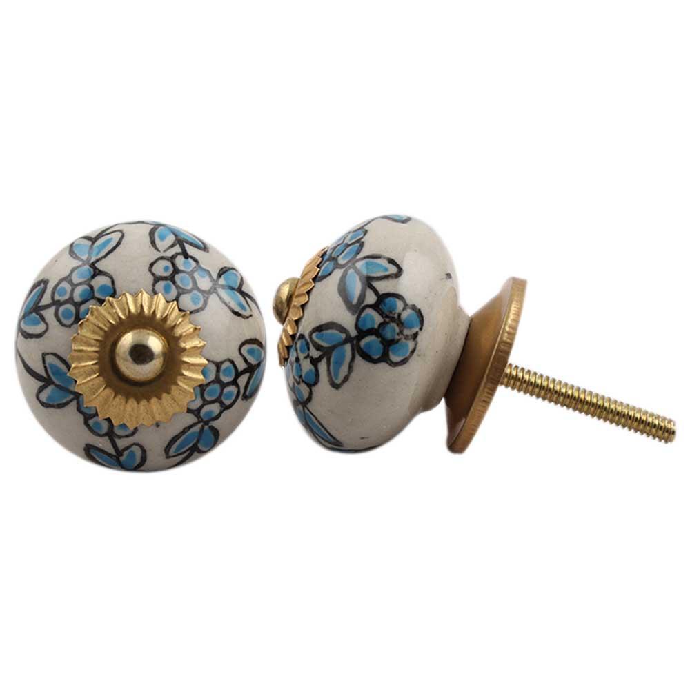 Slate Blue Tiny Dresser Knob