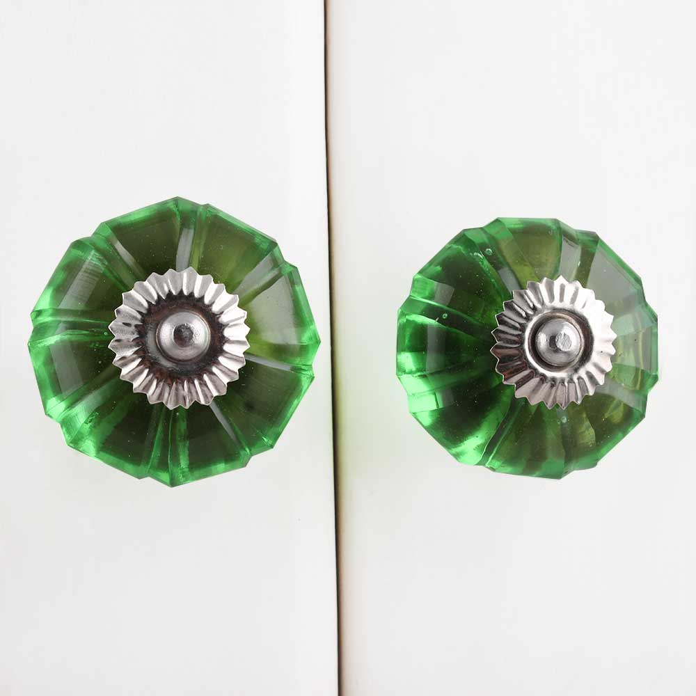 Green Melon Glass Knob (1)