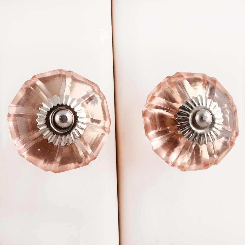 Pink Melon Glass Knob (1)