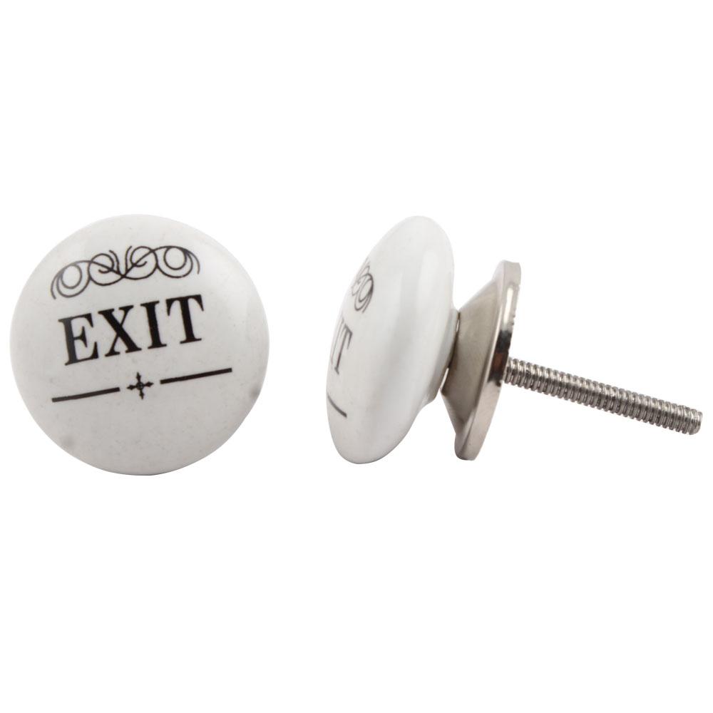 Exit Flat Ceramic Knob
