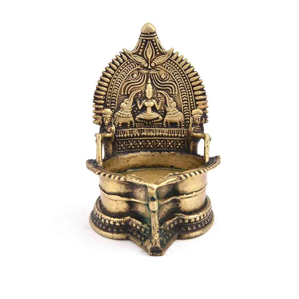Goddess Lakshmi Bronze Oil Lamp