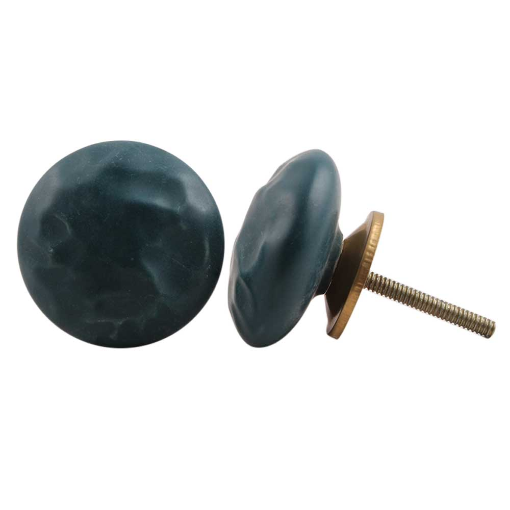 Forest Green Flat Cabinet Knob