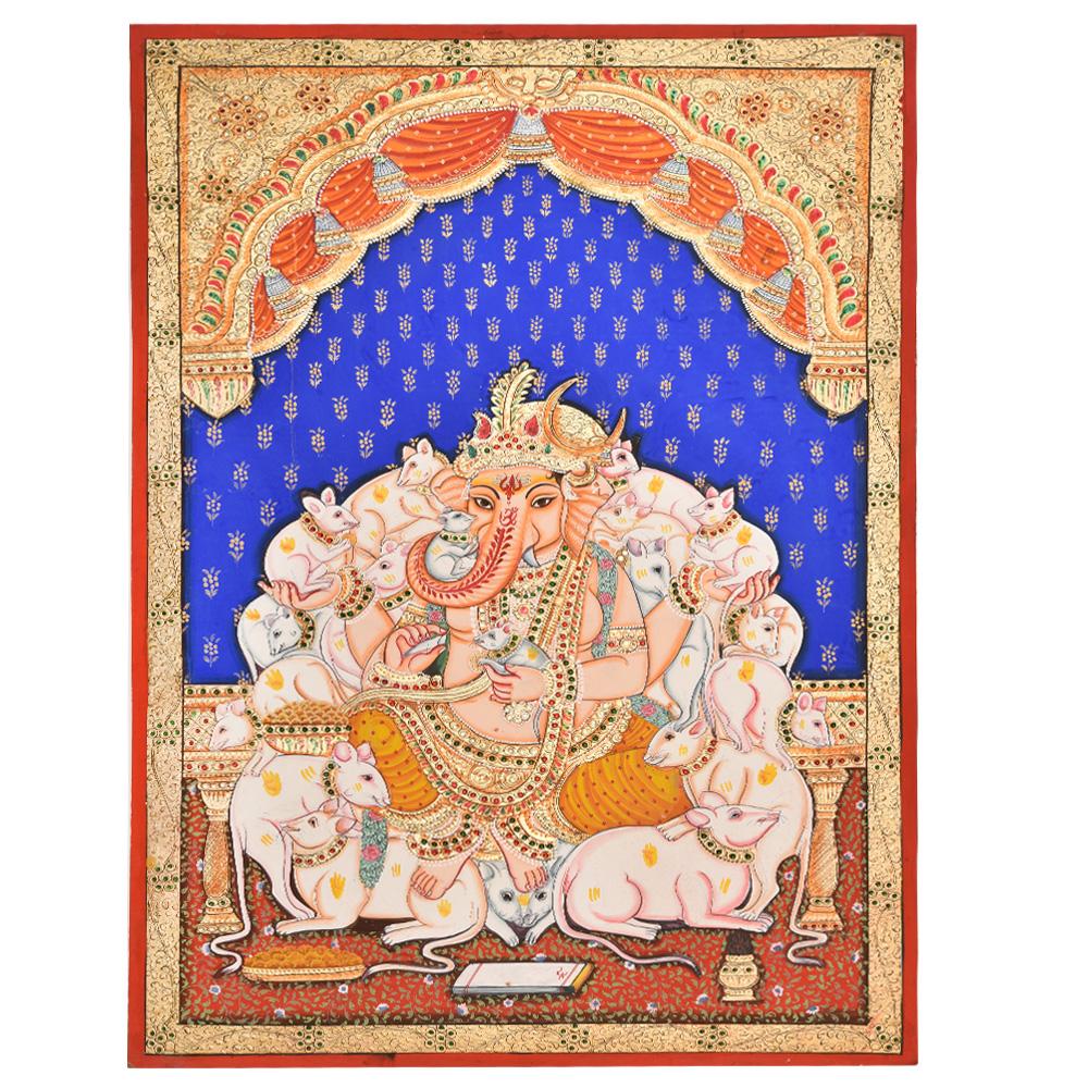 Mooshika Ganesh With Rats