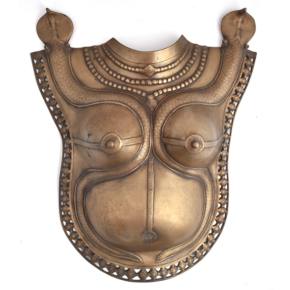 Shiva Parvati Bust Plate