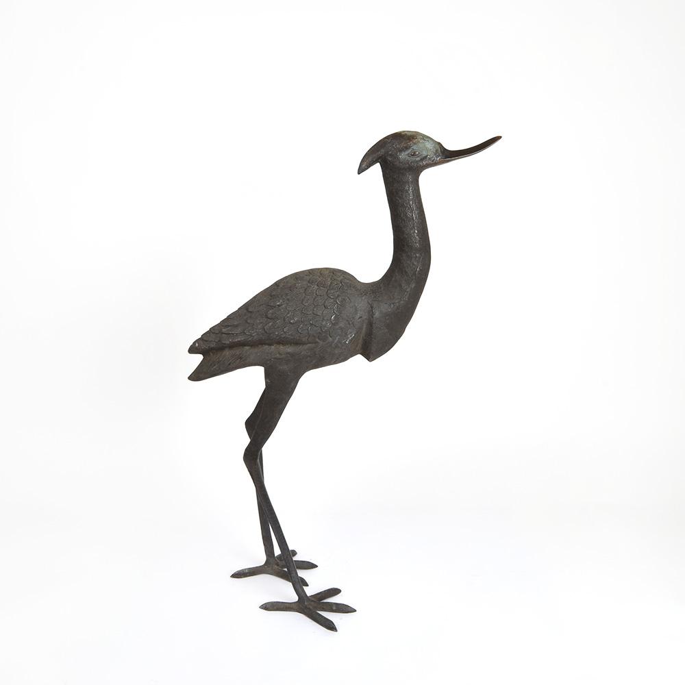 Metal Bronze Crane