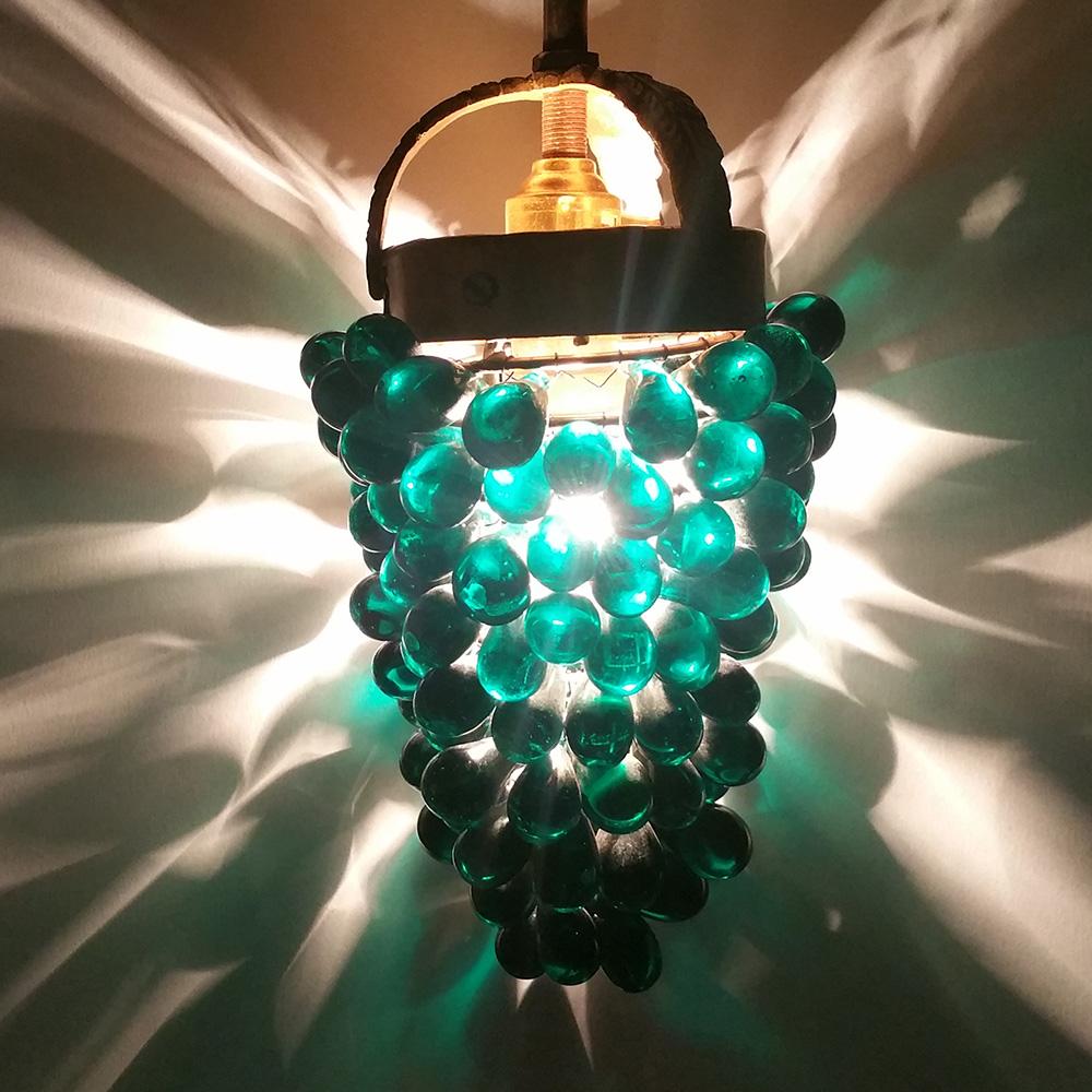 Vintage Green Grape Hanging Lamp