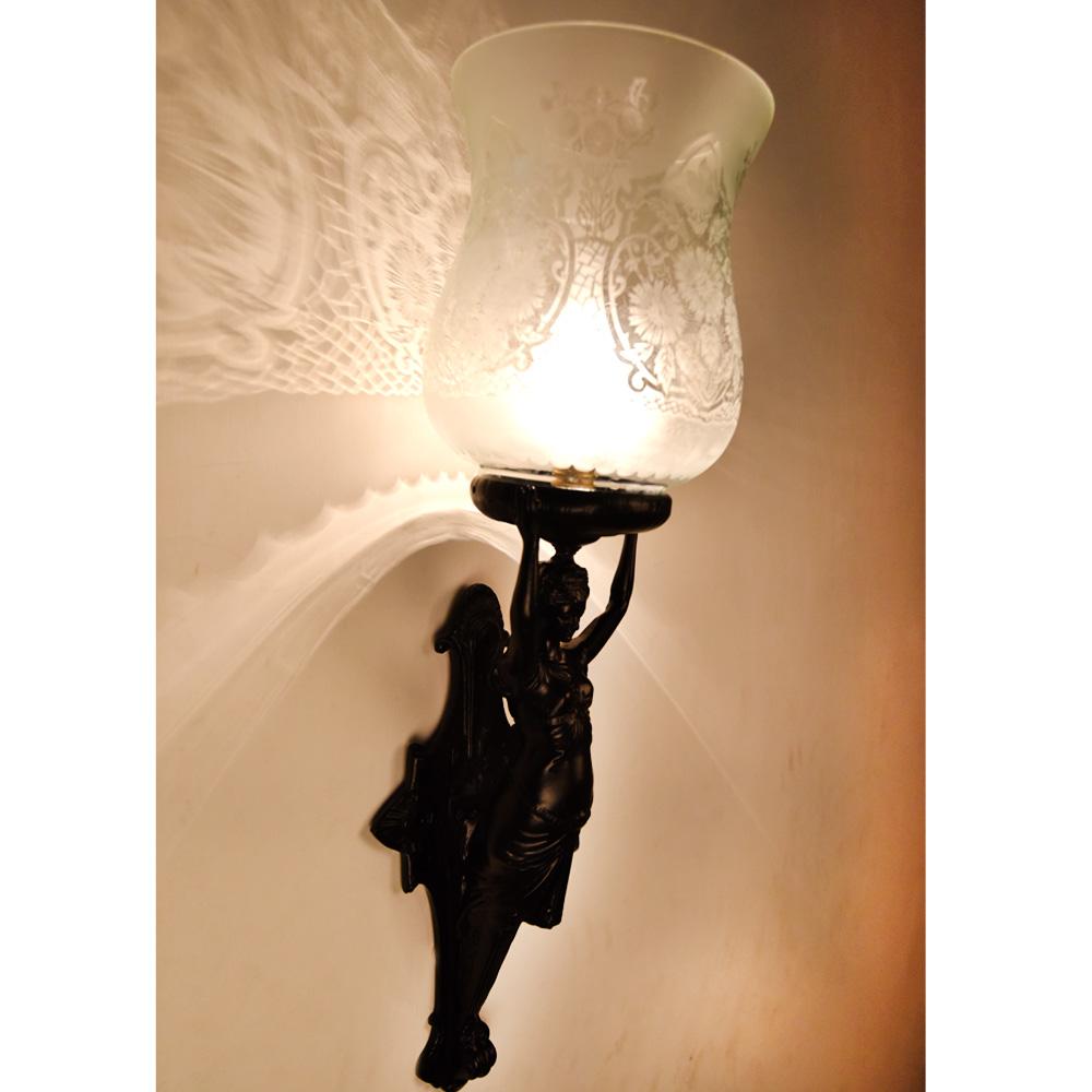 French Art Nouveau Lady Lamp