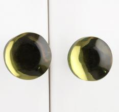 Lime Flat Cabinet Glass Knob