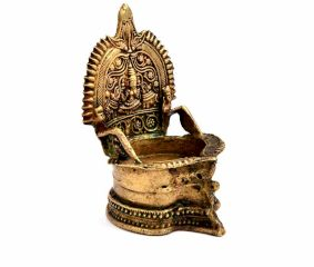 Temple Brass Oil Lamp
