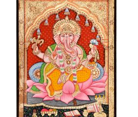 Tanjore Painting Of Lord Ganesha