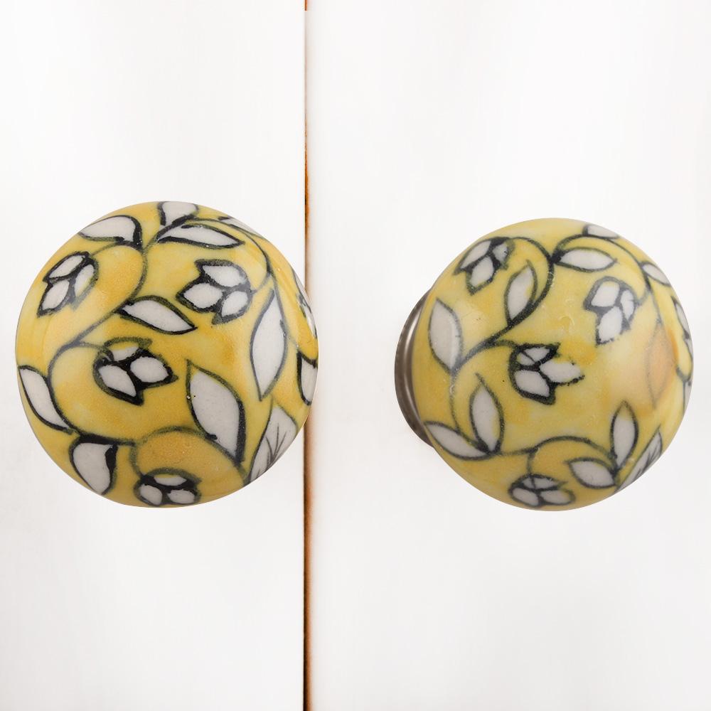 Yellow Flat Knob