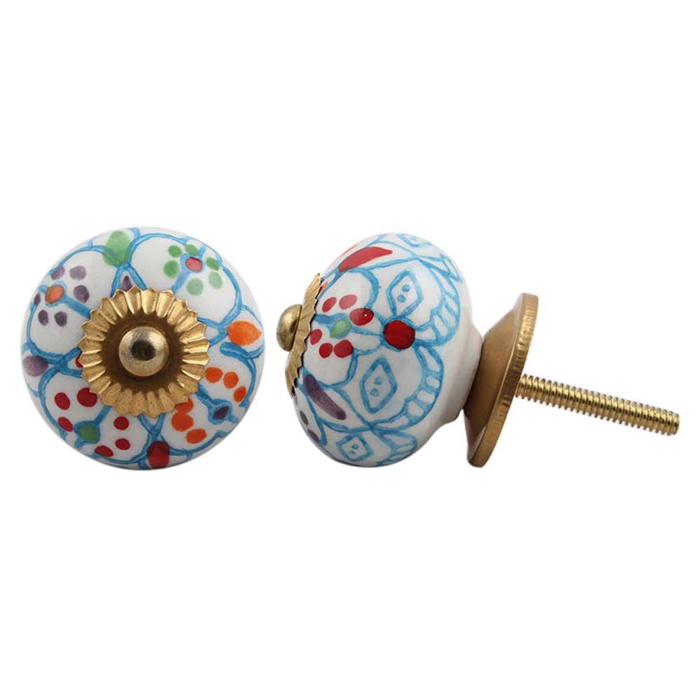 Mixed Floral Dresser Knob