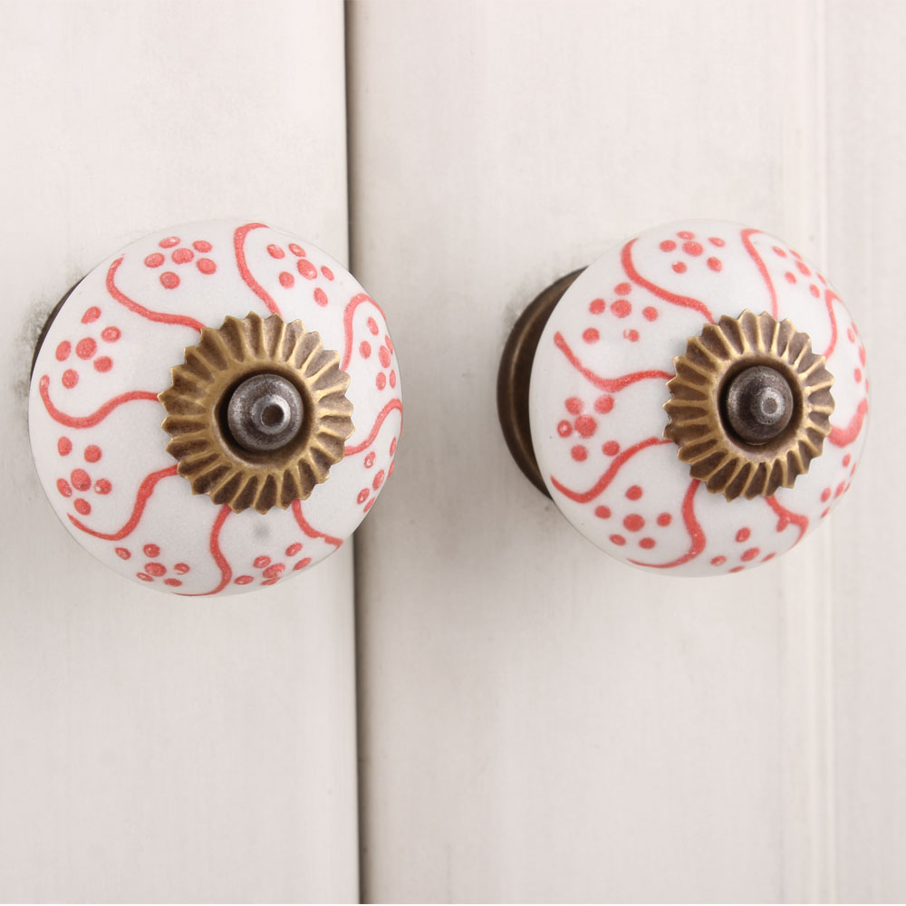 Gloriosa Superba Ceramic Knob