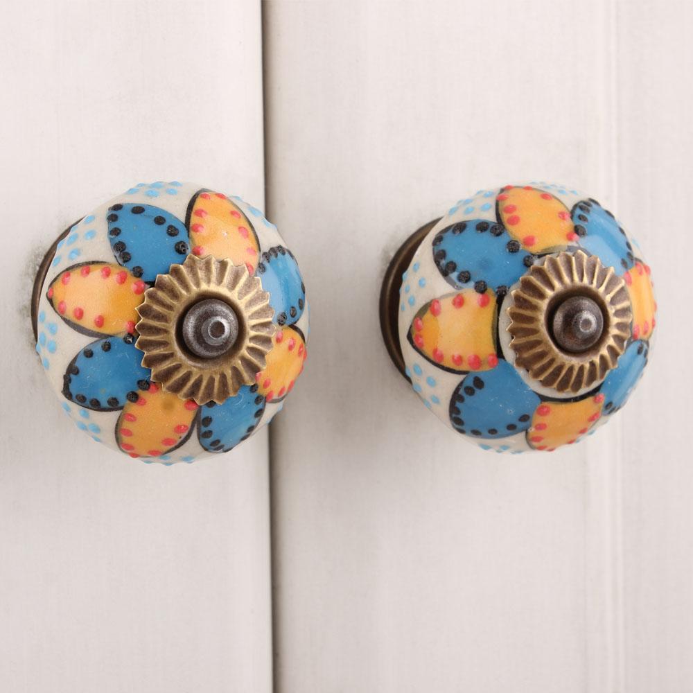 Mixed Lotus Ceramic Knob