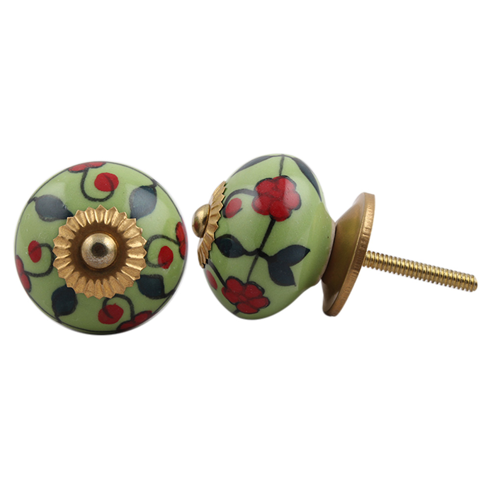 Garden Bouquet Ceramic Knob