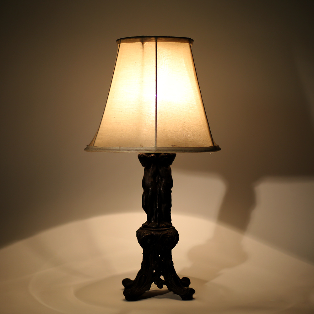 Three Solemn Children Table Lamp