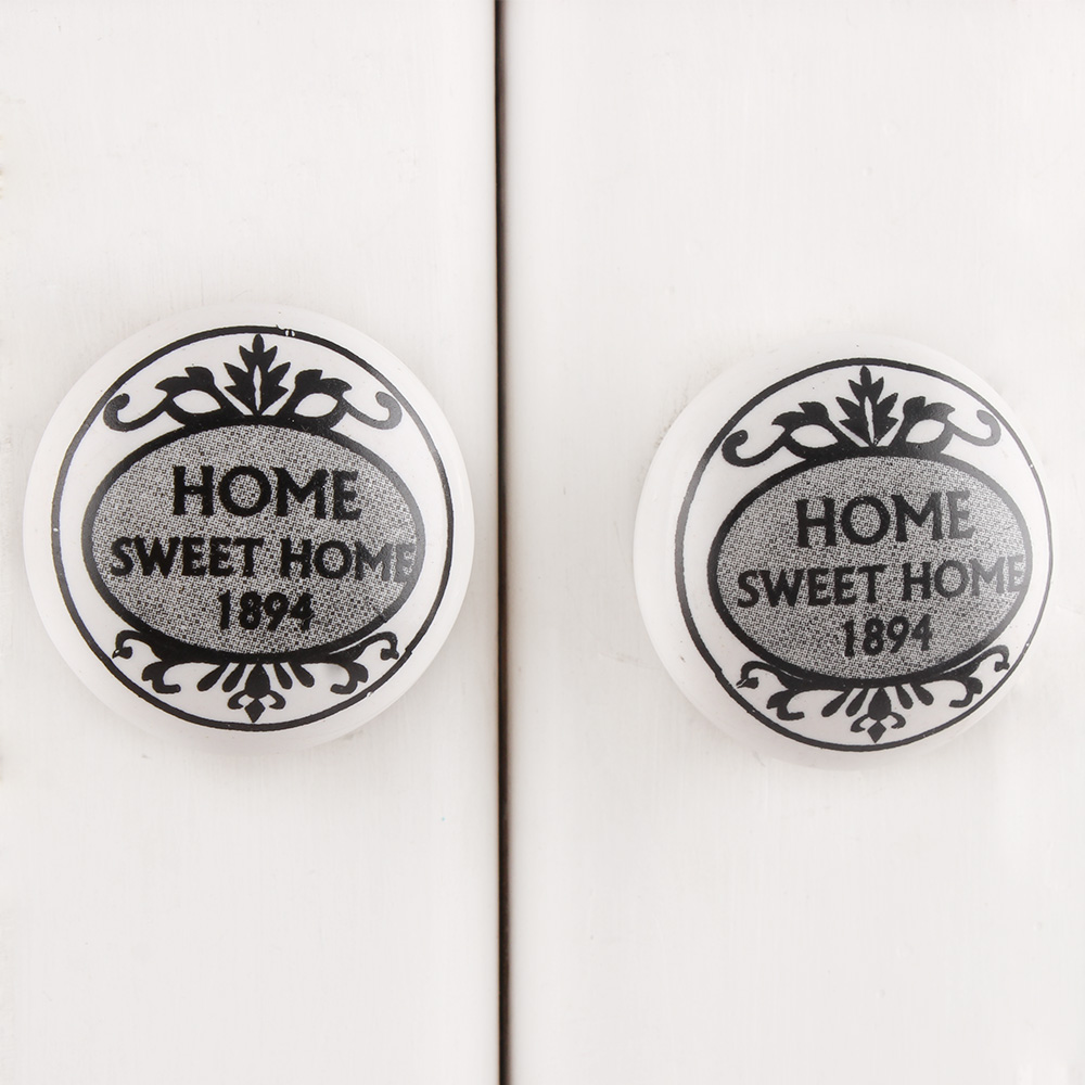 Sweet Home 1894 Flat Ceramic Drawer Knob