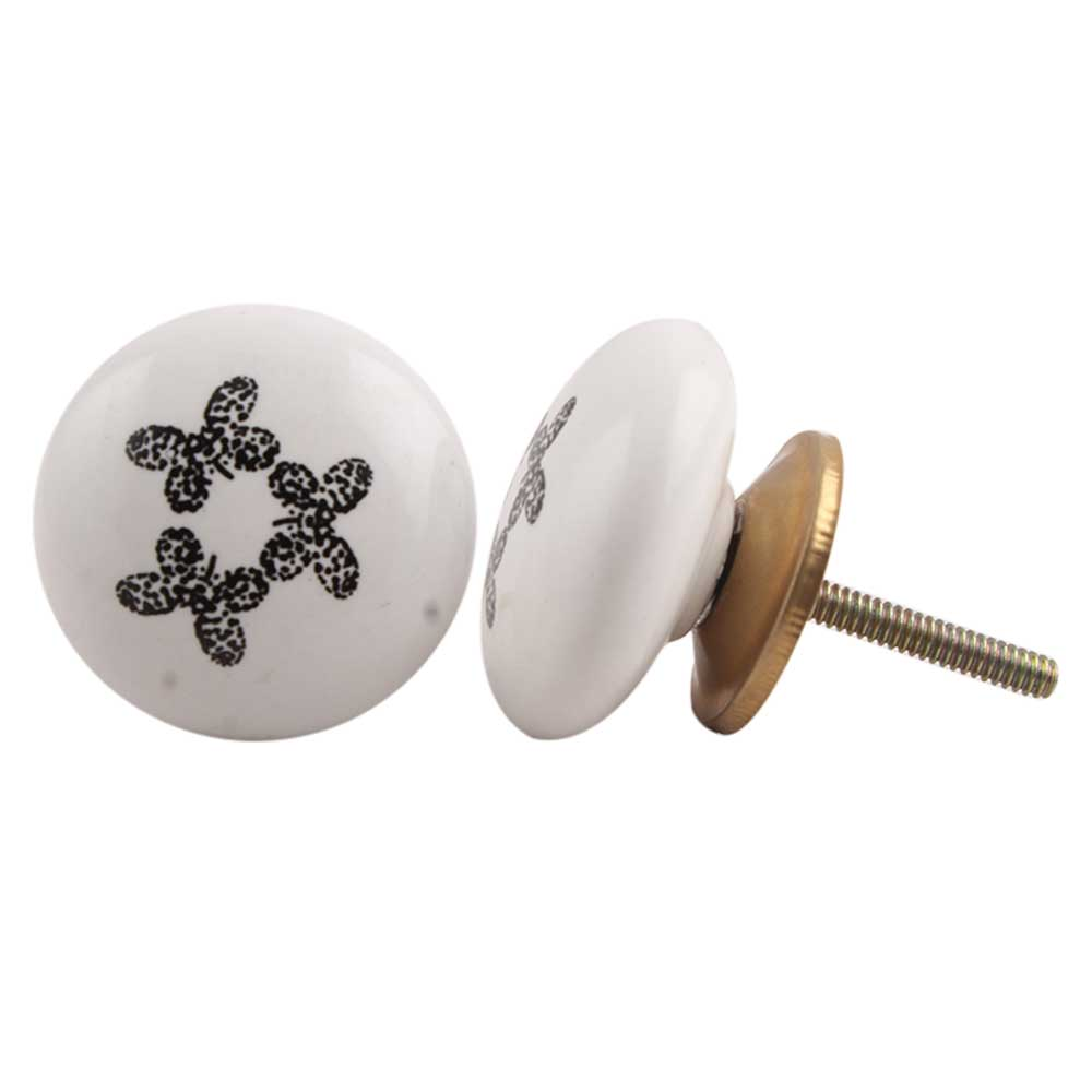 Small Butterfly Flat Drawer Knob