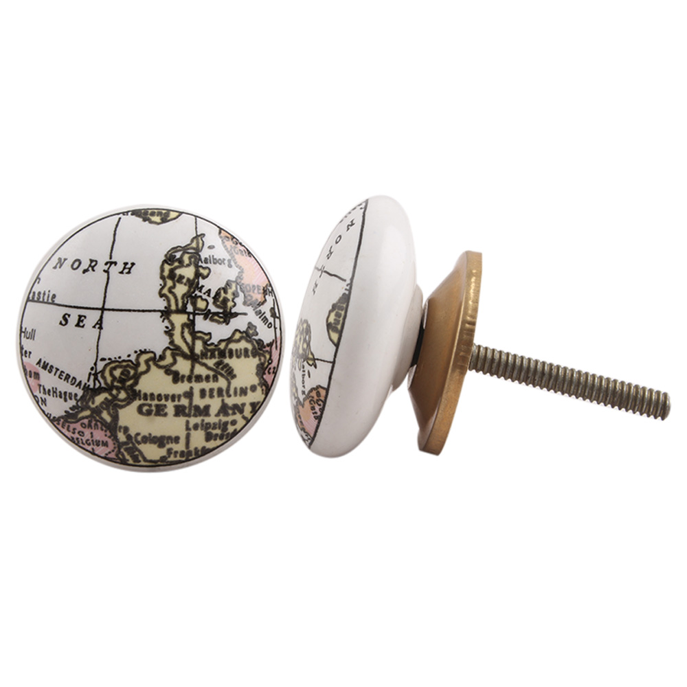 Germany Map Ceramic Drawer Knob