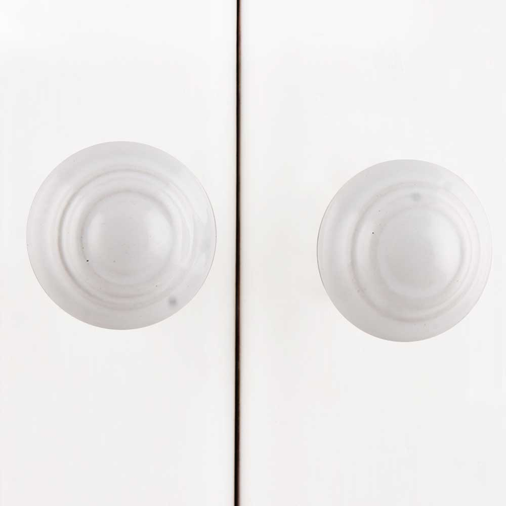White Solid Ceramic Dresser Knob