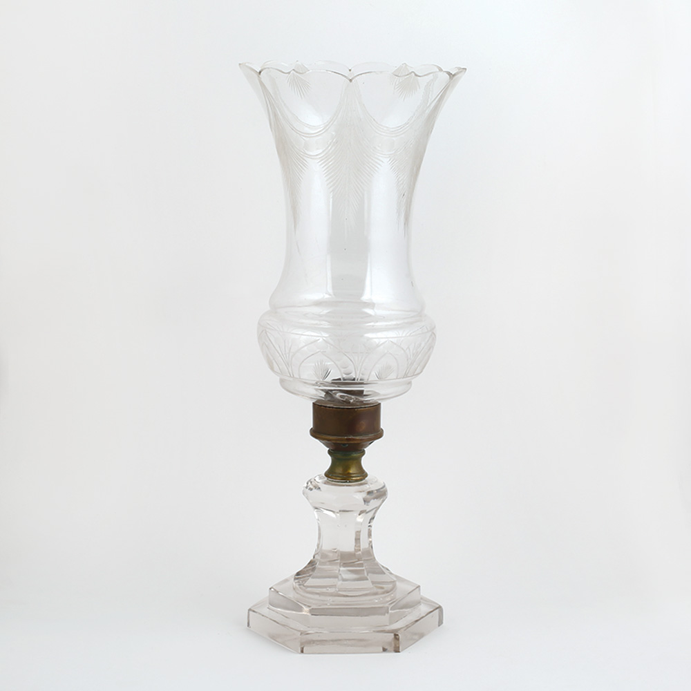 Clear Vintage Glass Lamp
