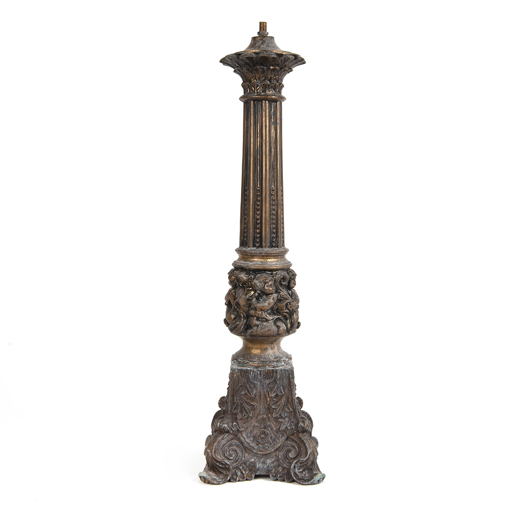Ornate Victorian Metal Lamp