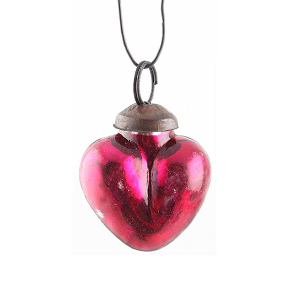 Antique Red Heart Tiny Christmas Hanging Online