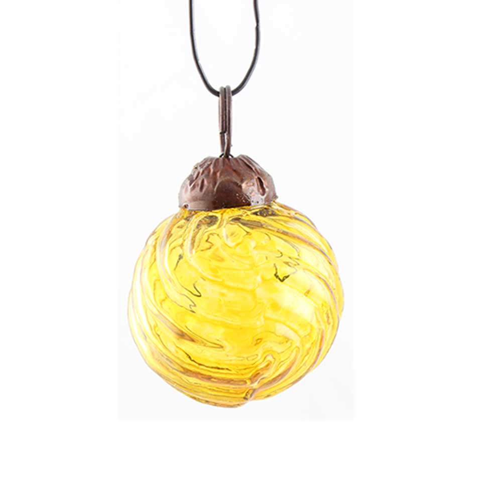 Yellow Striped Tiny Christmas Ornament Online
