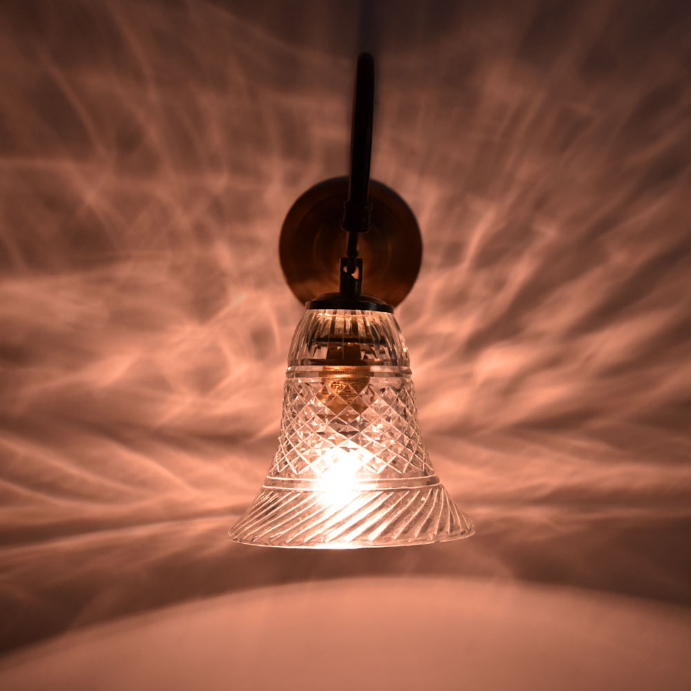 Bell Shaped Etched Wall Lamp