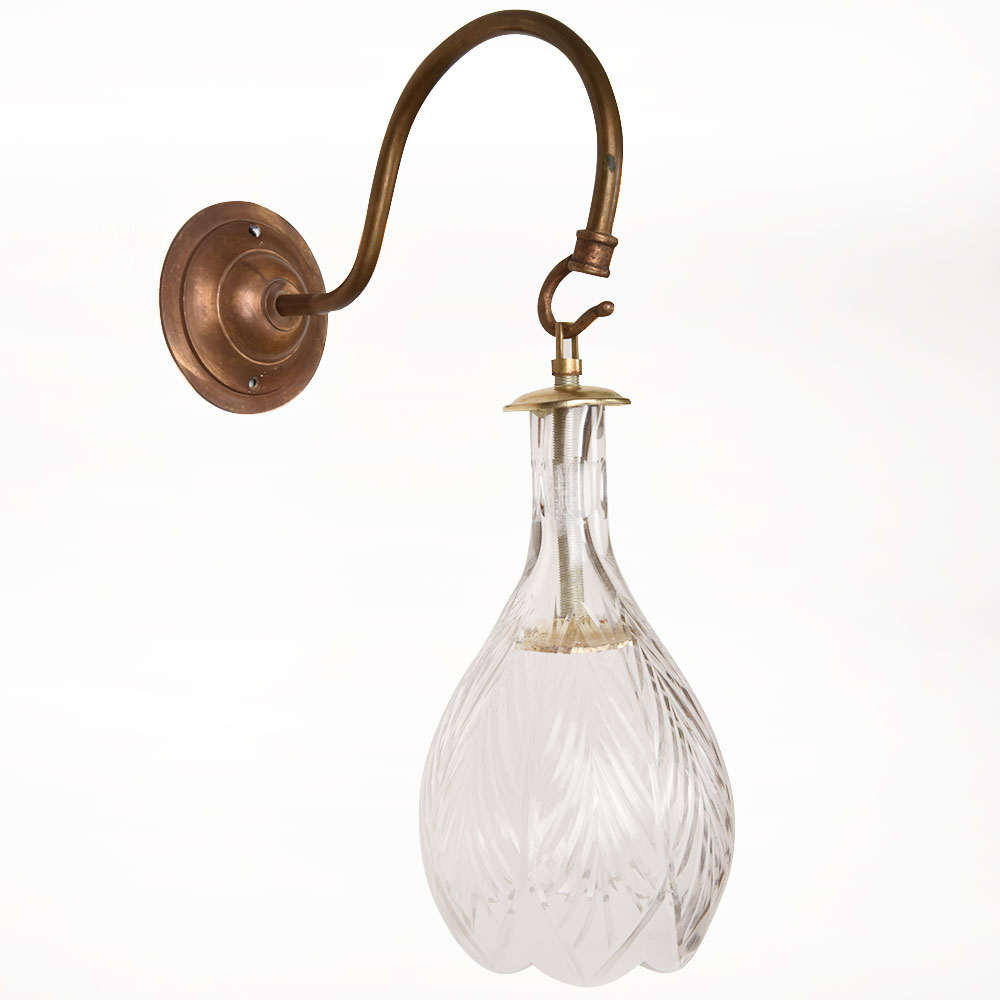 Bell Clear Glass Wall Lamp
