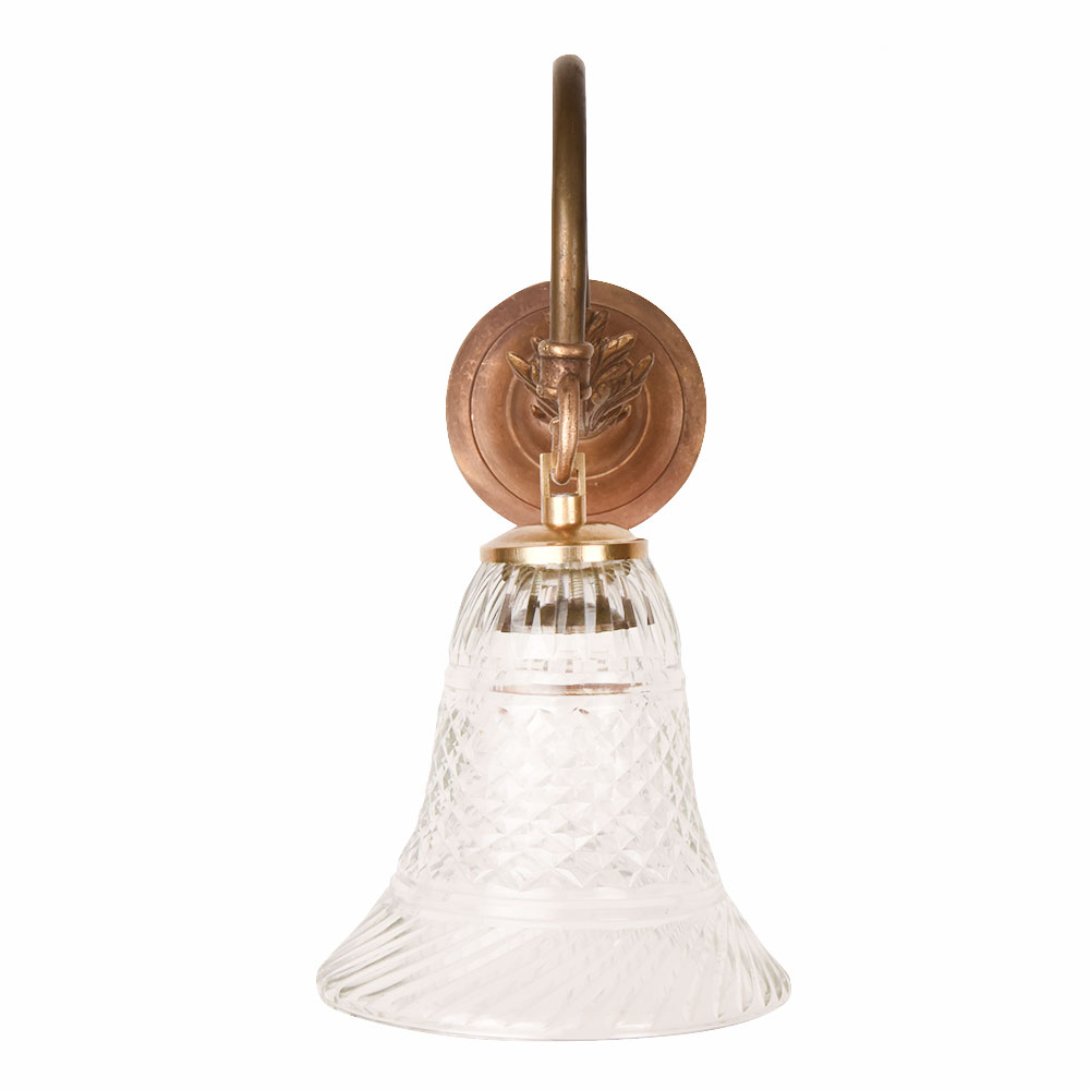 Clear Bell Shaped Wall Lamp