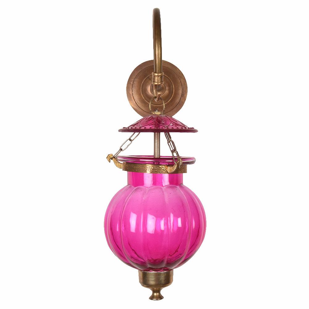 Pink Pumpkin Glass Wall Lamp