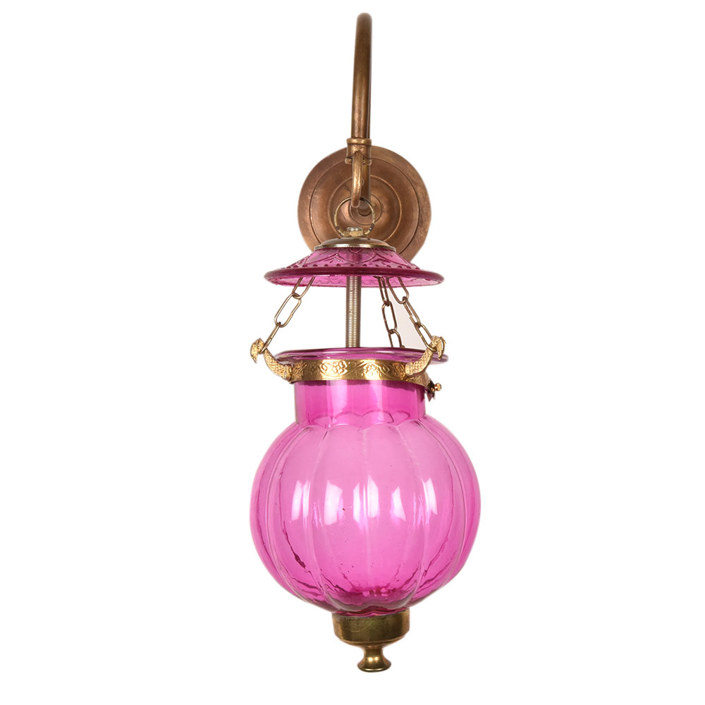 Pink Melon Shaped Glass Hanging