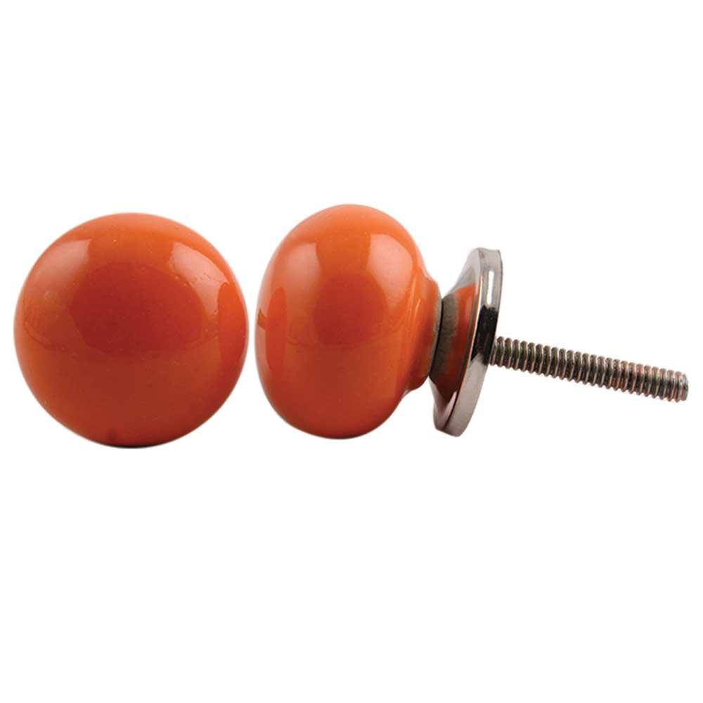 Orange Solid Knob Small