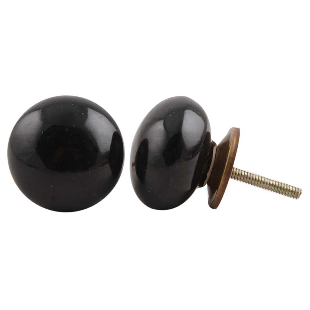 Black Flat Knob