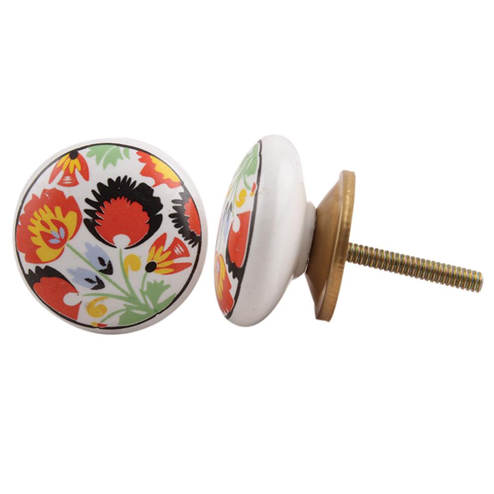Peacock Pattern Knob
